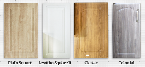 Plain Square, Lesotho Square II, Classic and Colonial style wrap doors.