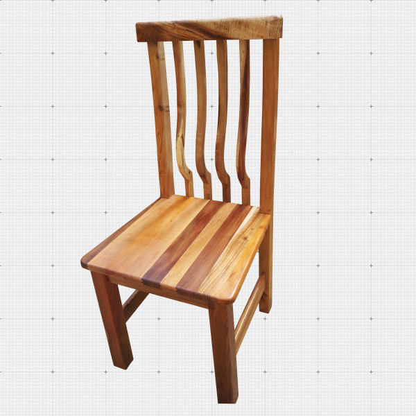 Solid wood chair.