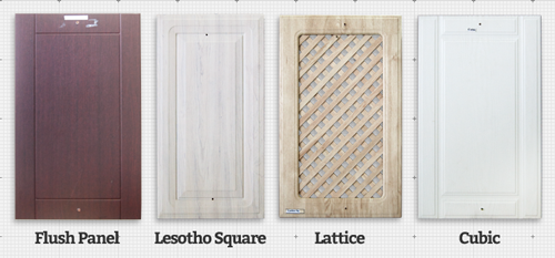 Flush Panel, Lesotho Square, Lattice and Cubic Wrap Doors