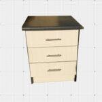 3 Drawer Bedside Stand