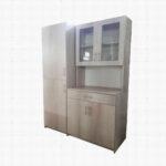 Kitchen Cupboard set with Lunar Ash wrap finish.
